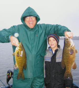 Cold Weather - Hot Action Smallmouth Bass 10/04